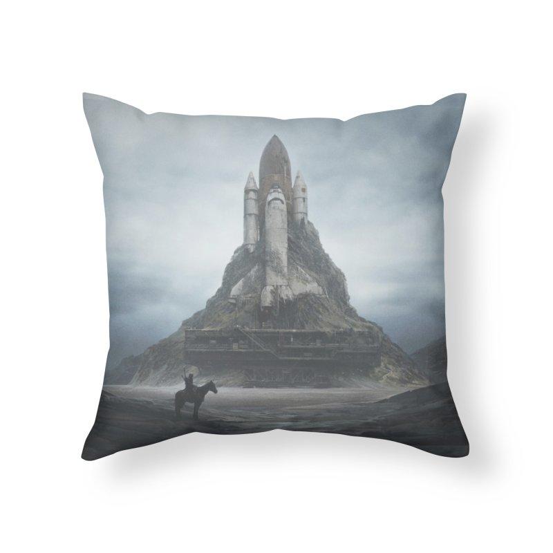 White Castle Home Throw Pillow by Threadless Artist Shop