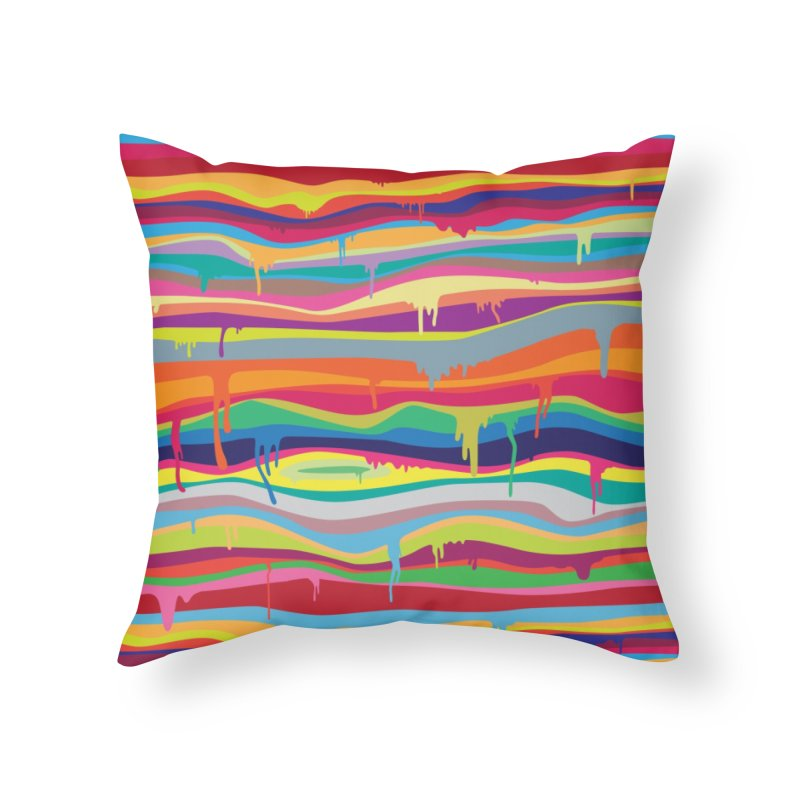 The Melting Home Throw Pillow by Threadless Artist Shop