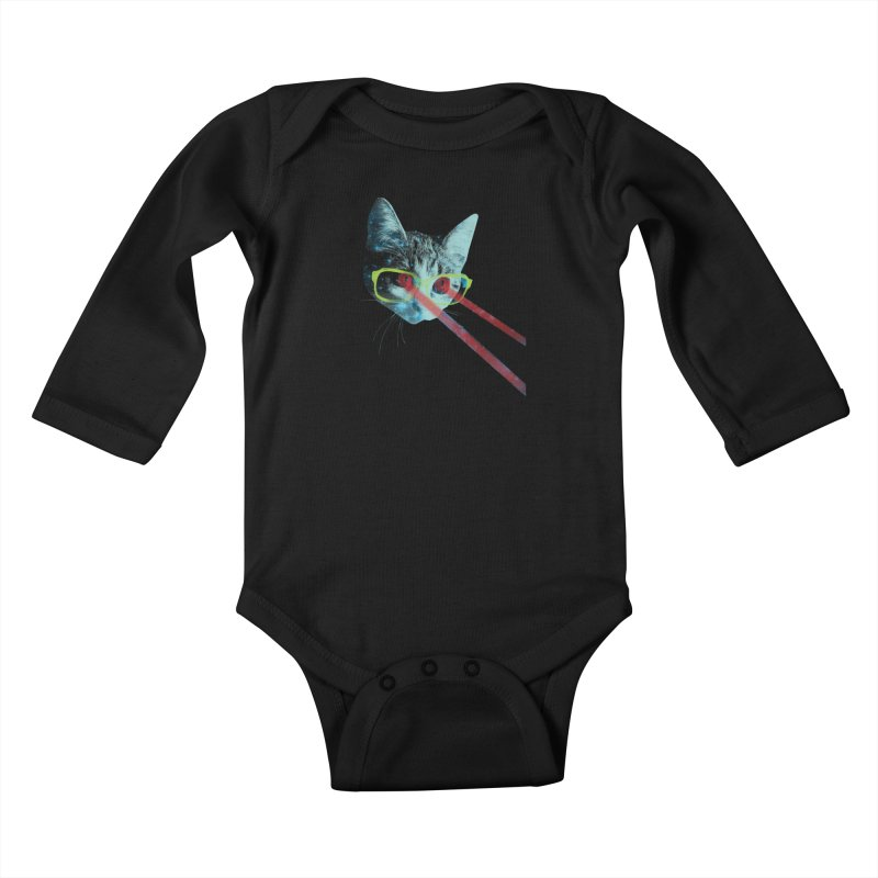 Mister Mittens' Big Adventure Kids Baby Longsleeve Bodysuit by Threadless Artist Shop