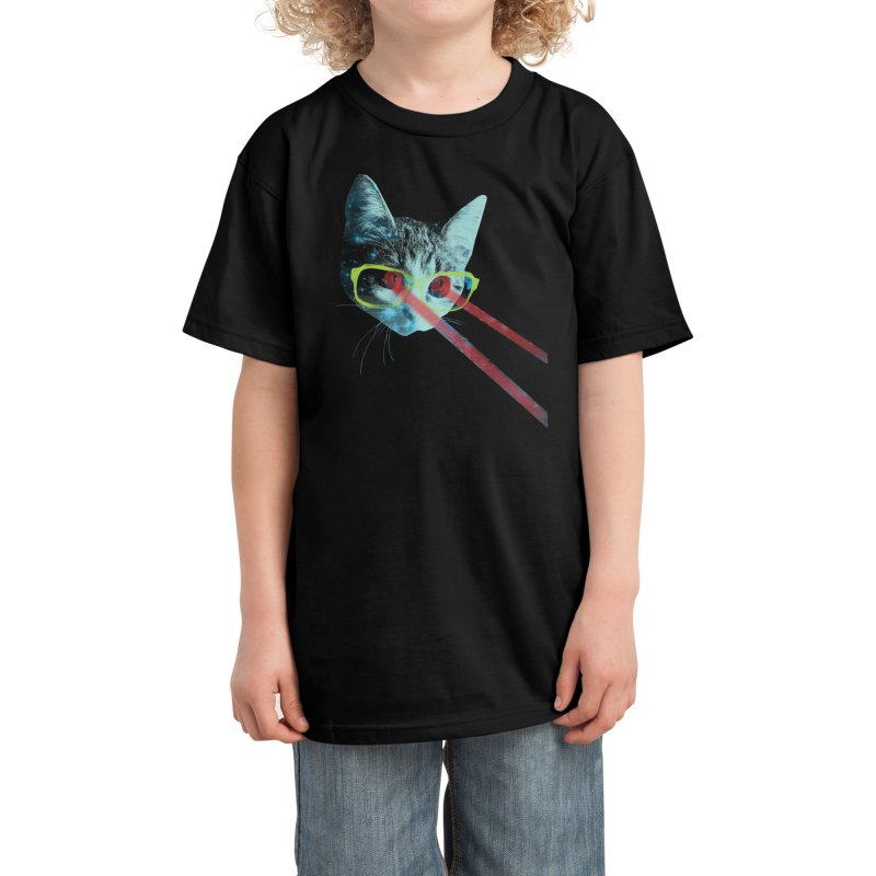 Mister Mittens' Big Adventure Kids T-Shirt by Threadless Artist Shop