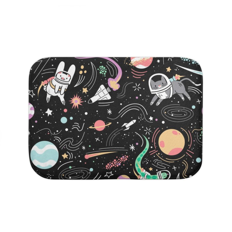 Space Pets Home Bath Mat by Threadless Artist Shop