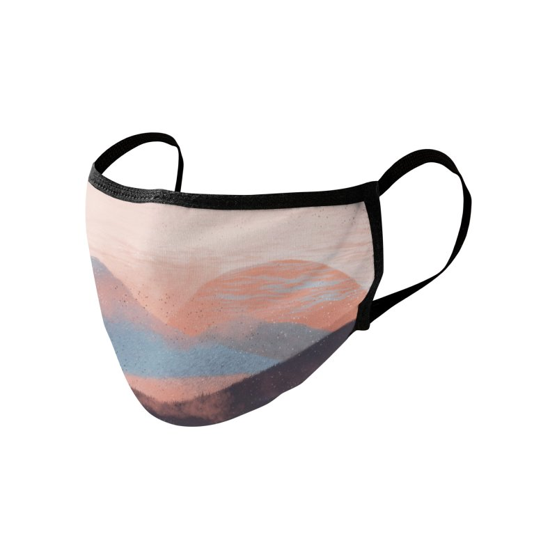 Adrift in the Mountains... Accessories Face Mask by Threadless Artist Shop