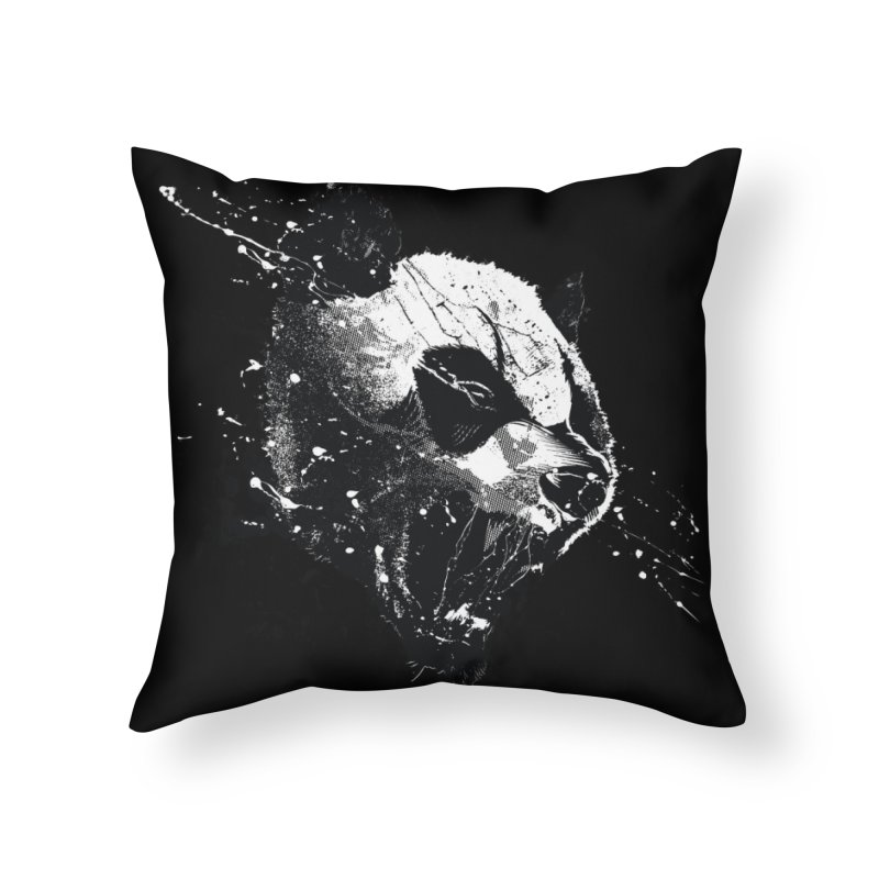 When Pandas Attack Home Throw Pillow by Threadless Artist Shop