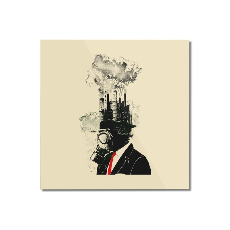 Business Man Home Mounted Acrylic Print by Threadless Artist Shop