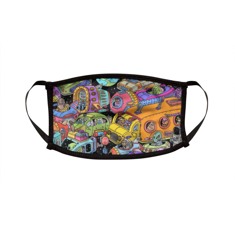 Space Traffic Accessories Face Mask by Threadless Artist Shop