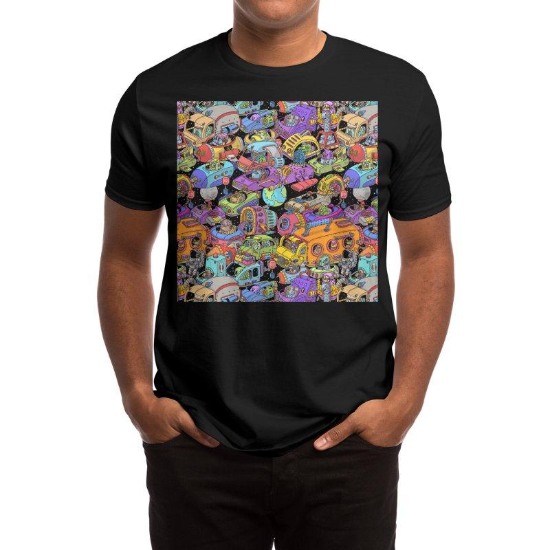 Space Traffic Men's T-Shirt by Threadless Artist Shop