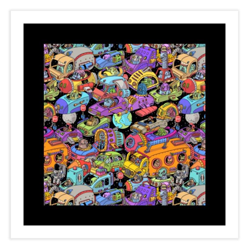 Space Traffic Home Fine Art Print by Threadless Artist Shop