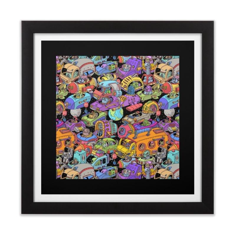 Space Traffic Home Framed Fine Art Print by Threadless Artist Shop