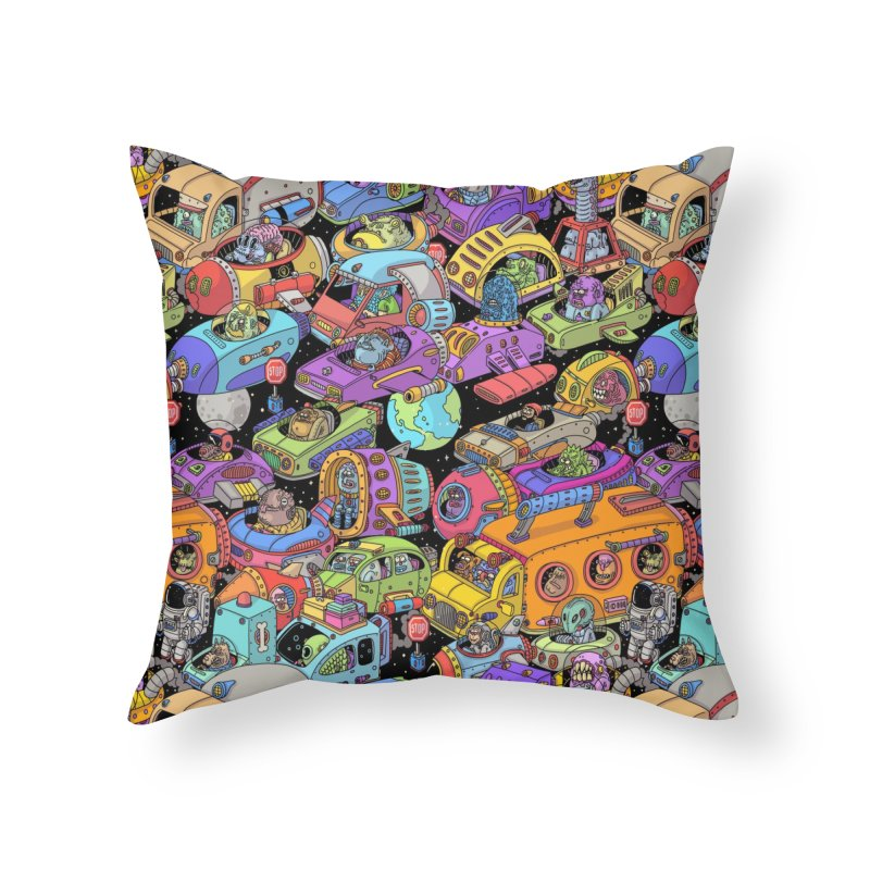 Space Traffic Home Throw Pillow by Threadless Artist Shop