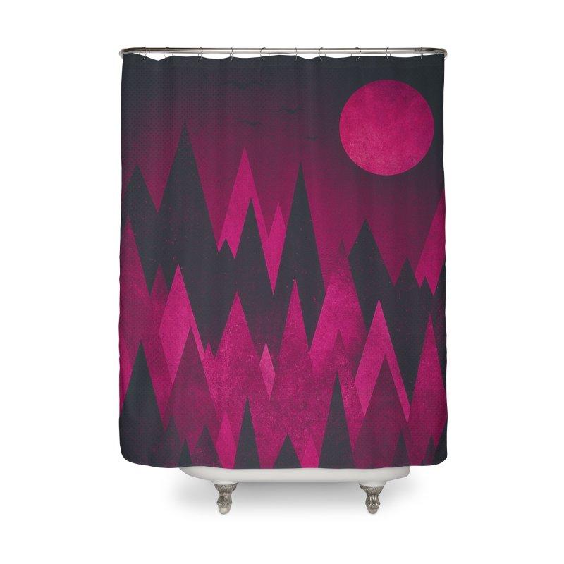 Dark Mystery Peak Wood's Home Shower Curtain by Threadless Artist Shop
