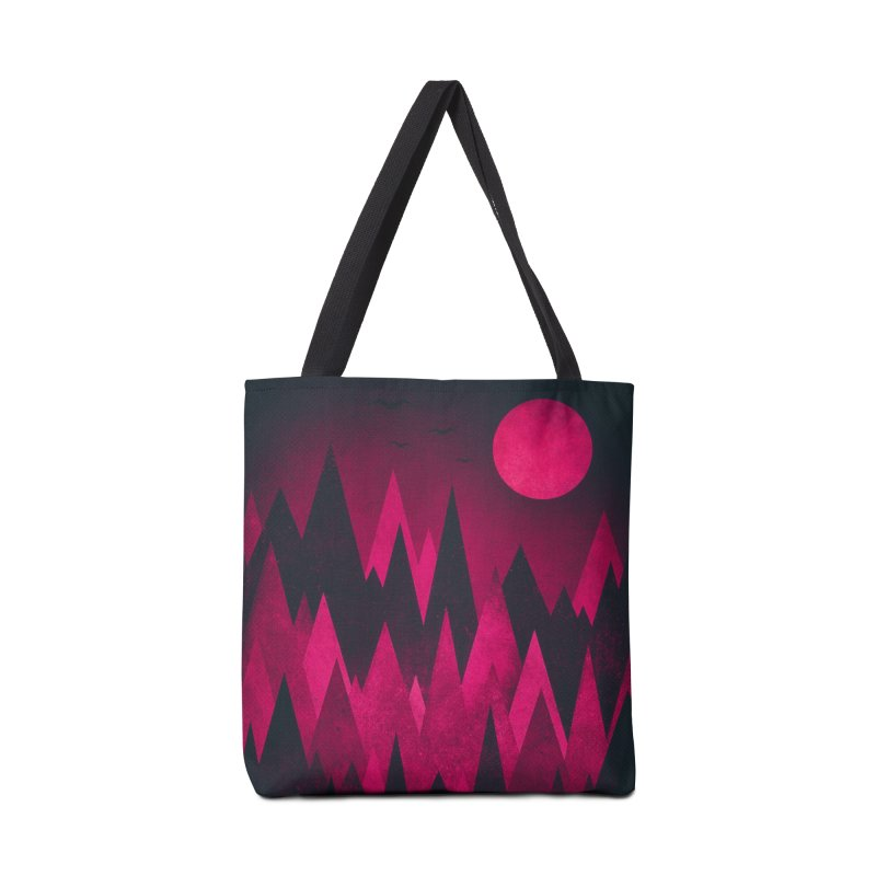 Dark Mystery Peak Wood's Accessories Bag by Threadless Artist Shop