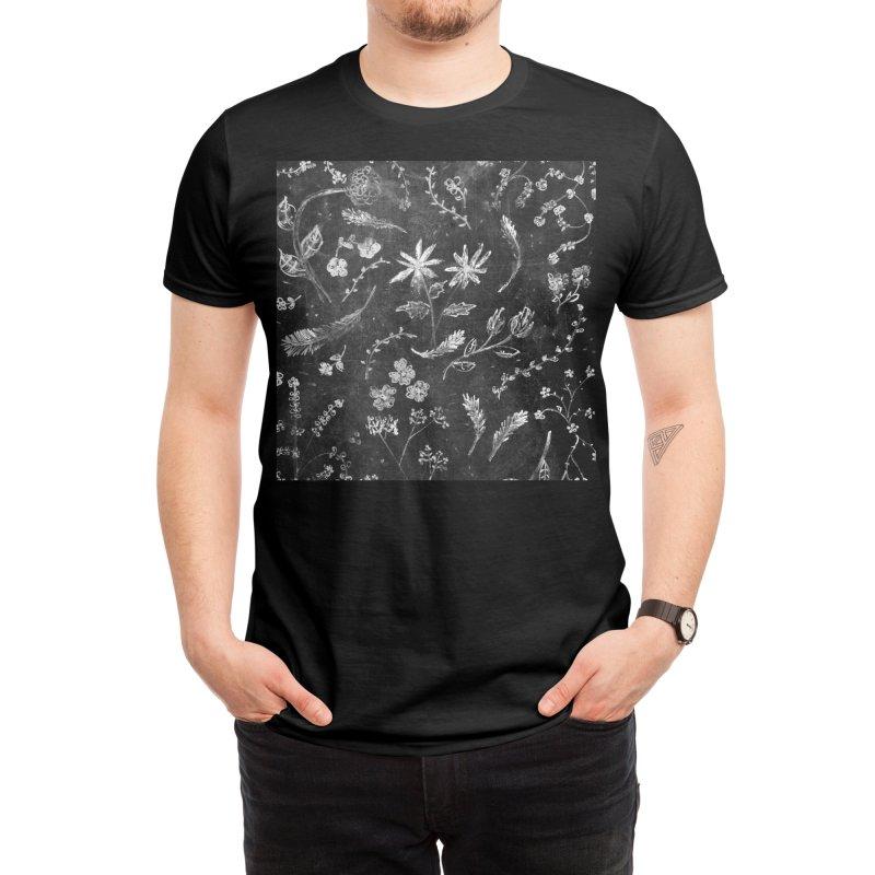 Flowers in Chalk... Men's T-Shirt by Threadless Artist Shop
