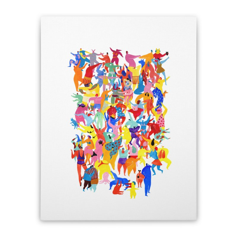 I feel like dancing :) Home Stretched Canvas by Threadless Artist Shop