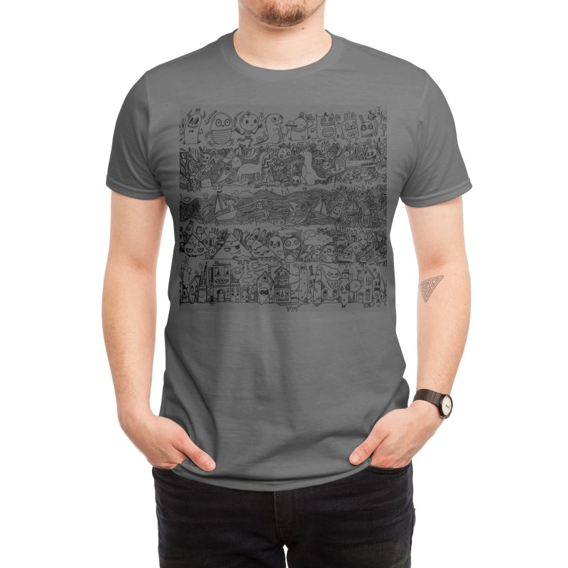 Many Layered Doodle Men's T-Shirt by Threadless Artist Shop