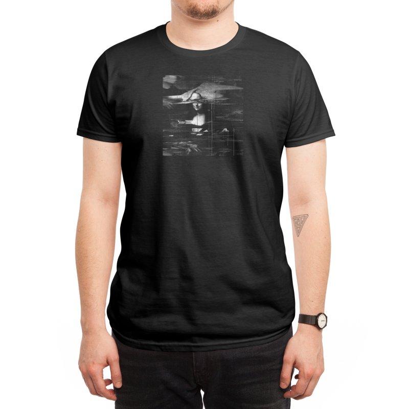 Mona Lisa Glitch Men's T-Shirt by Threadless Artist Shop