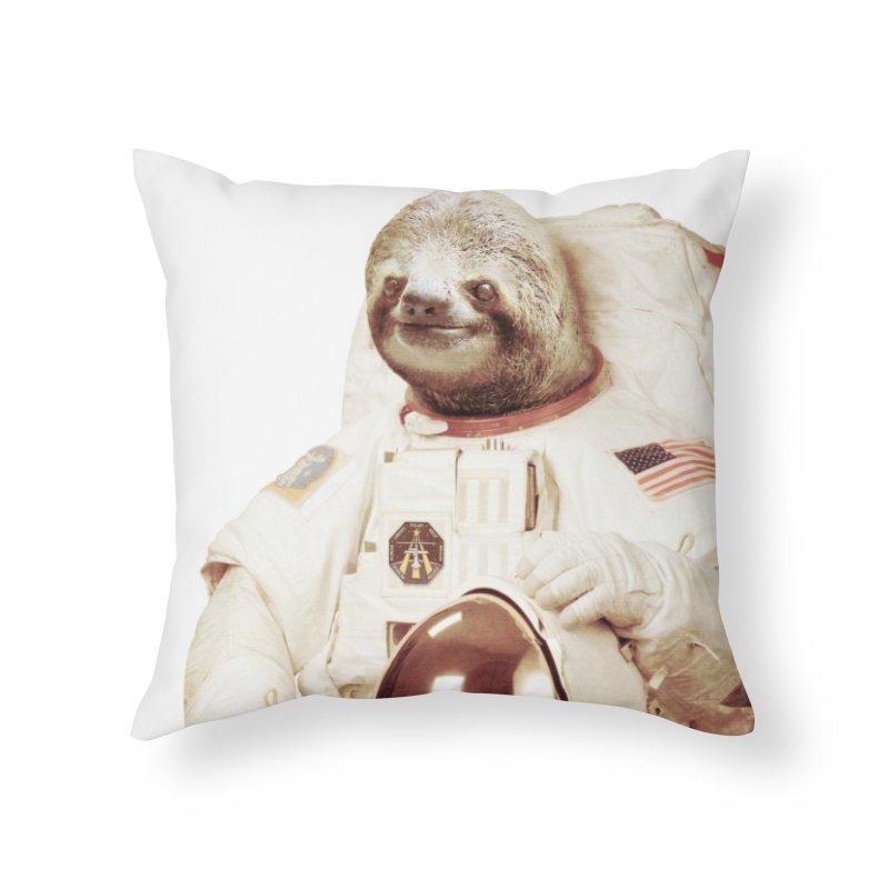 Astronaut Sloth Home Throw Pillow by Threadless Artist Shop