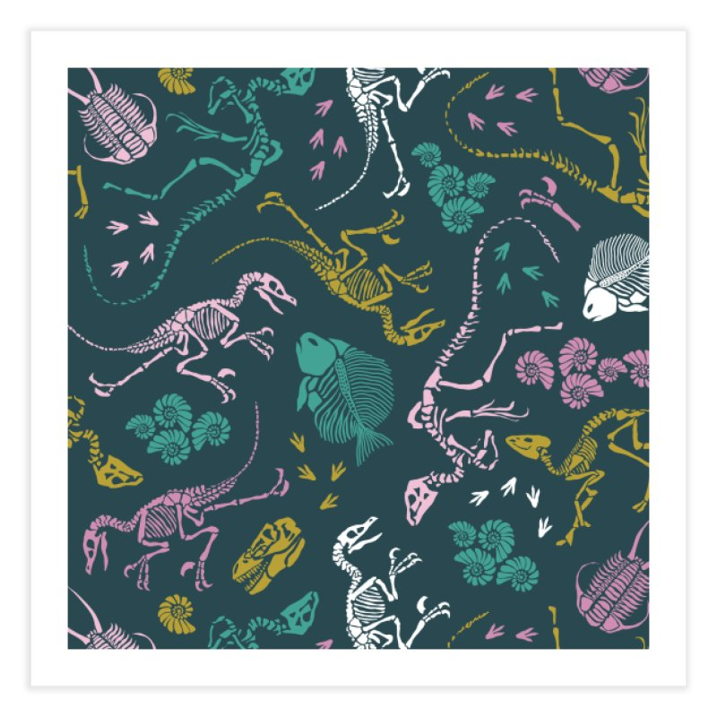 Dinosaurs Home Fine Art Print by Threadless Artist Shop