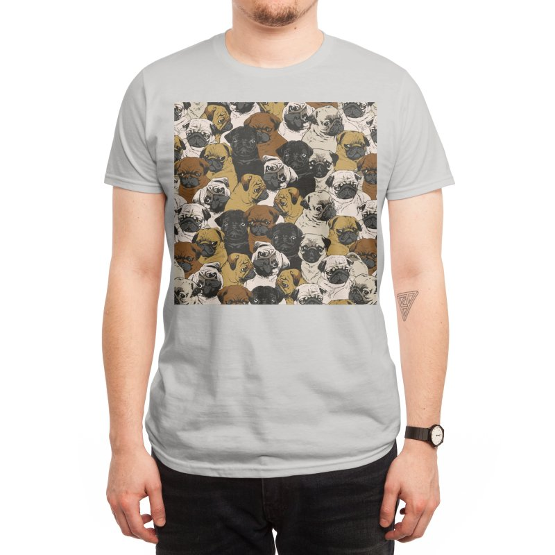 Social Pugs Men's T-Shirt by Threadless Artist Shop