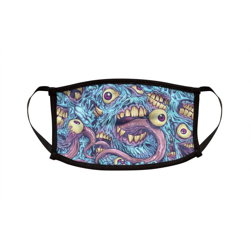 Eyeballs and Teeth Accessories Face Mask by Threadless Artist Shop