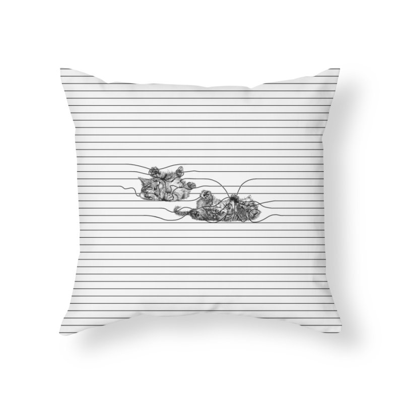 Play with Me Home Throw Pillow by Threadless Artist Shop