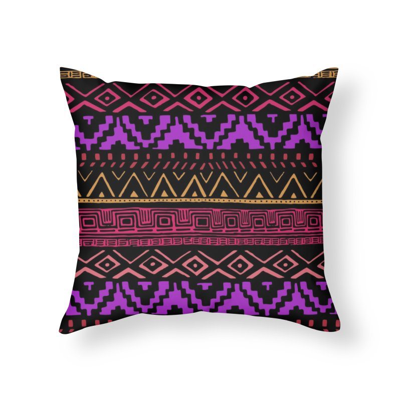 Aztec Madness Home Throw Pillow by Threadless Artist Shop