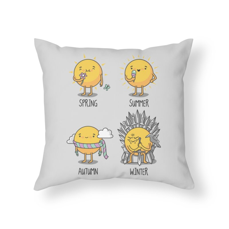 The Seasons Home Throw Pillow by Threadless Artist Shop