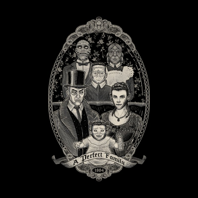 Strange Portrait of a Perfect Family Men's Sweatshirt by Threadless Artist Shop