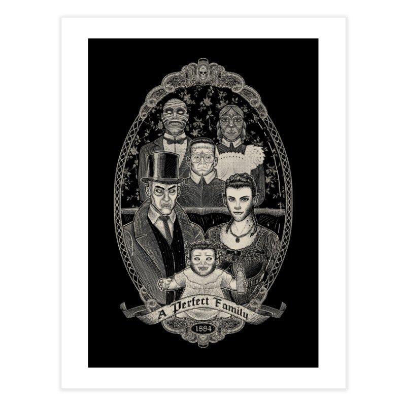 Strange Portrait of a Perfect Family Home Fine Art Print by Threadless Artist Shop