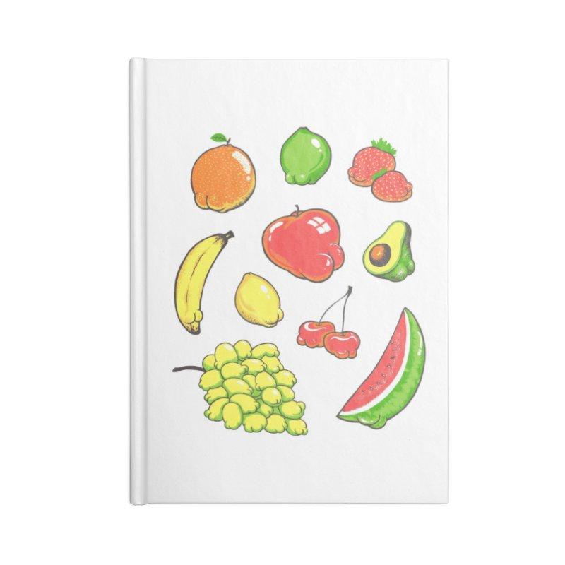 Booty Fruit Accessories Notebook by Threadless Artist Shop