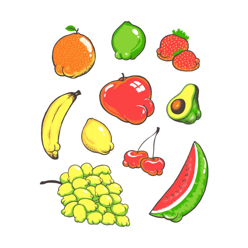 Booty Fruit Accessories Mug by Threadless Artist Shop