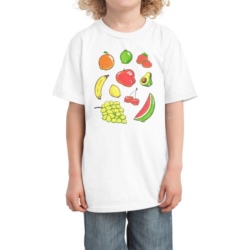 Booty Fruit Kids T-Shirt by Threadless Artist Shop