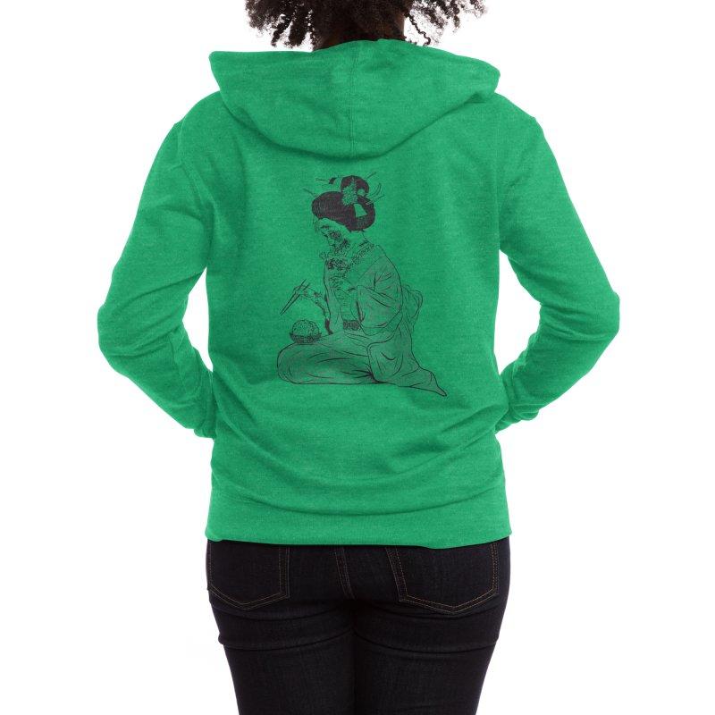 Geishaaa! Women's Zip-Up Hoody by Threadless Artist Shop