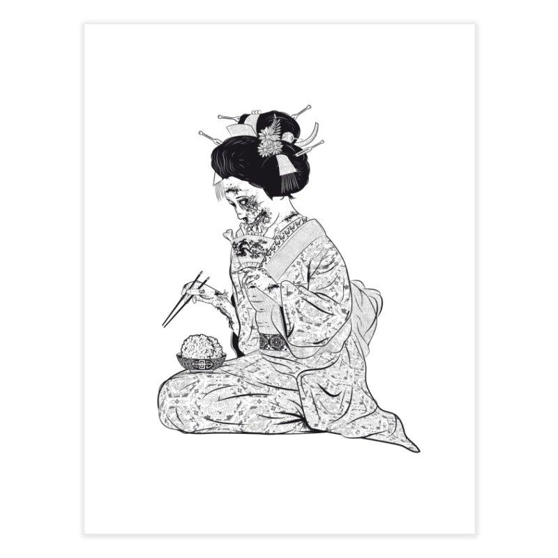 Geishaaa! Home Fine Art Print by Threadless Artist Shop