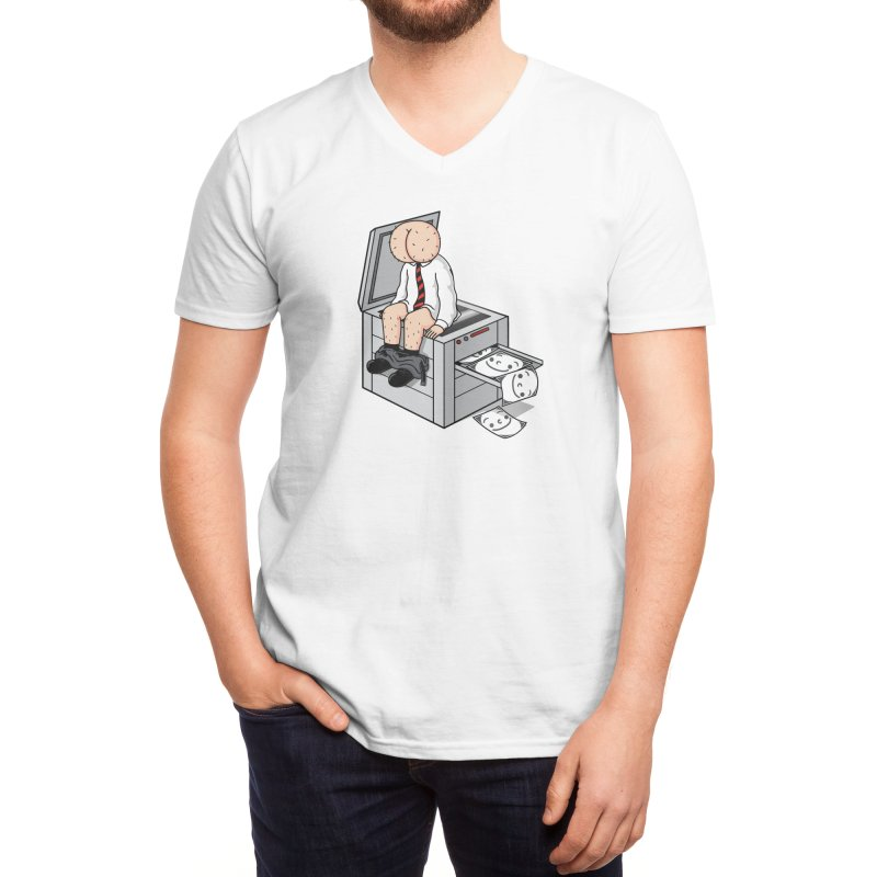Buttface Copies! Men's V-Neck by Threadless Artist Shop