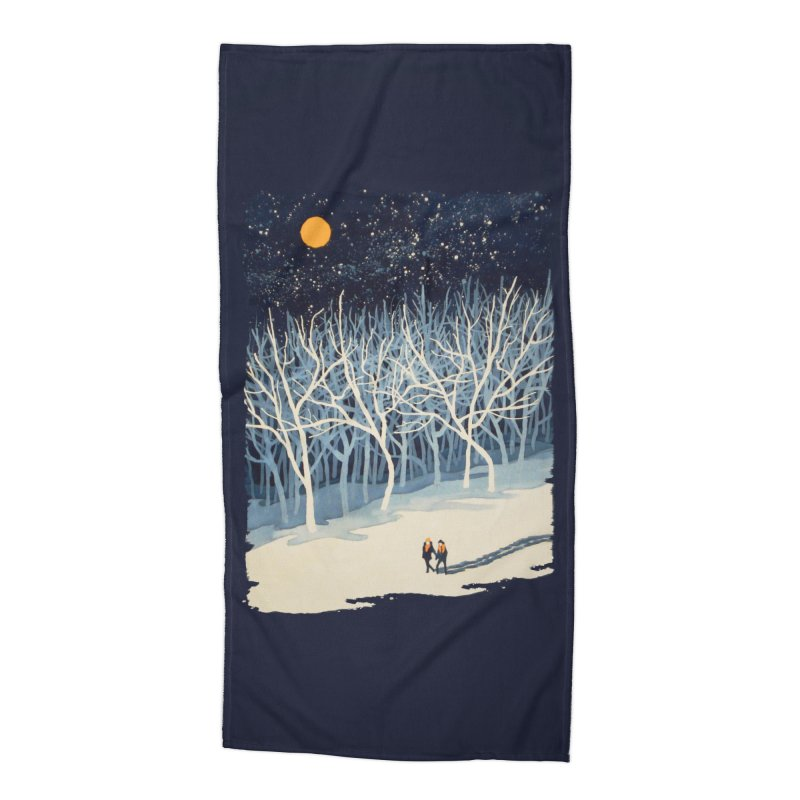 If On A Winter's Night... Accessories Beach Towel by Threadless Artist Shop
