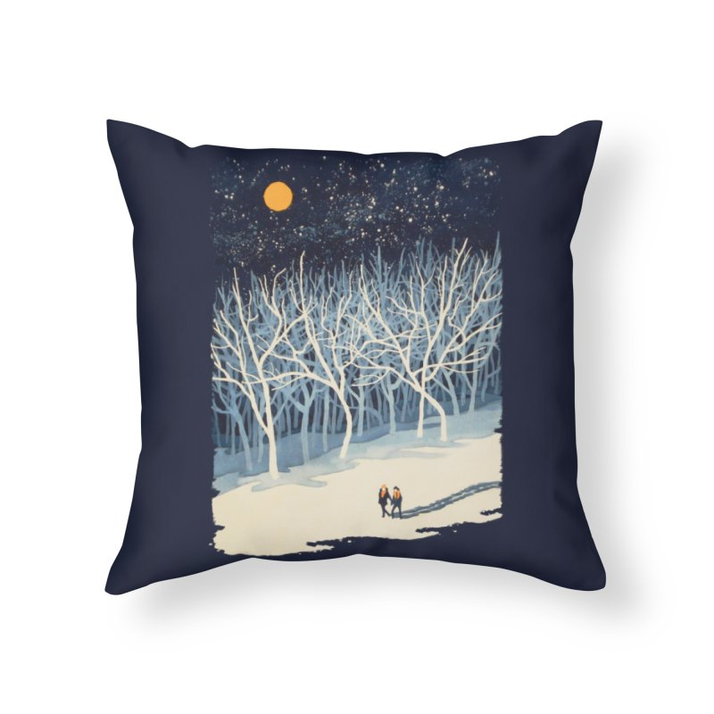 If On A Winter's Night... Home Throw Pillow by Threadless Artist Shop