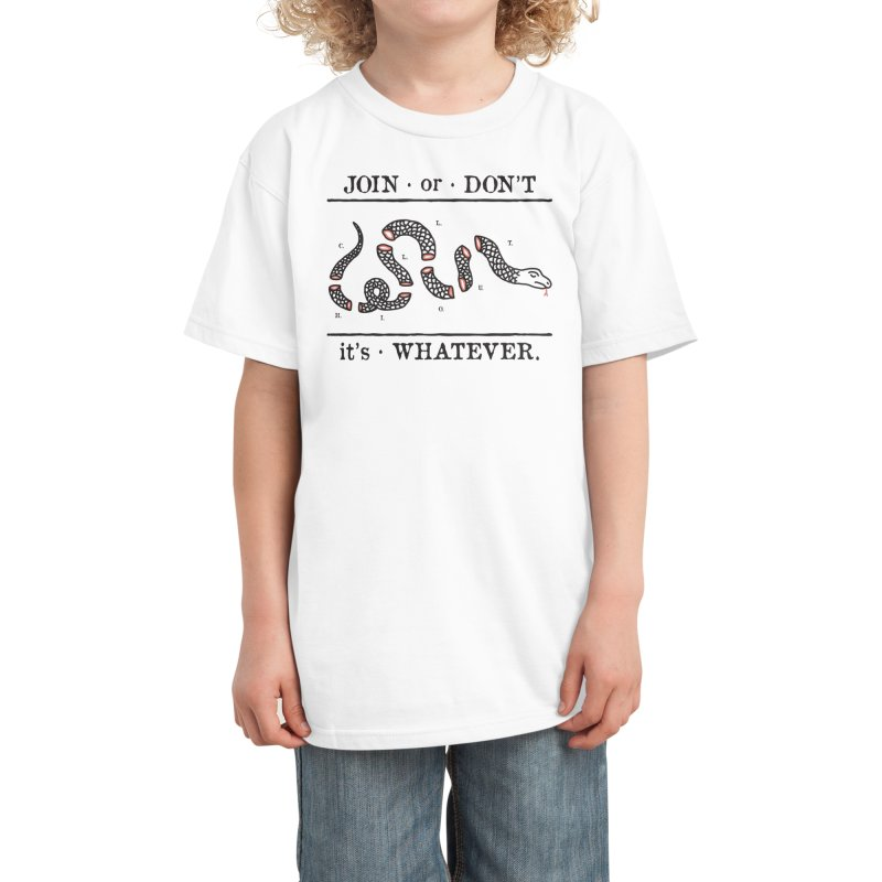 JOIN or DON'T Kids T-Shirt by Threadless Artist Shop