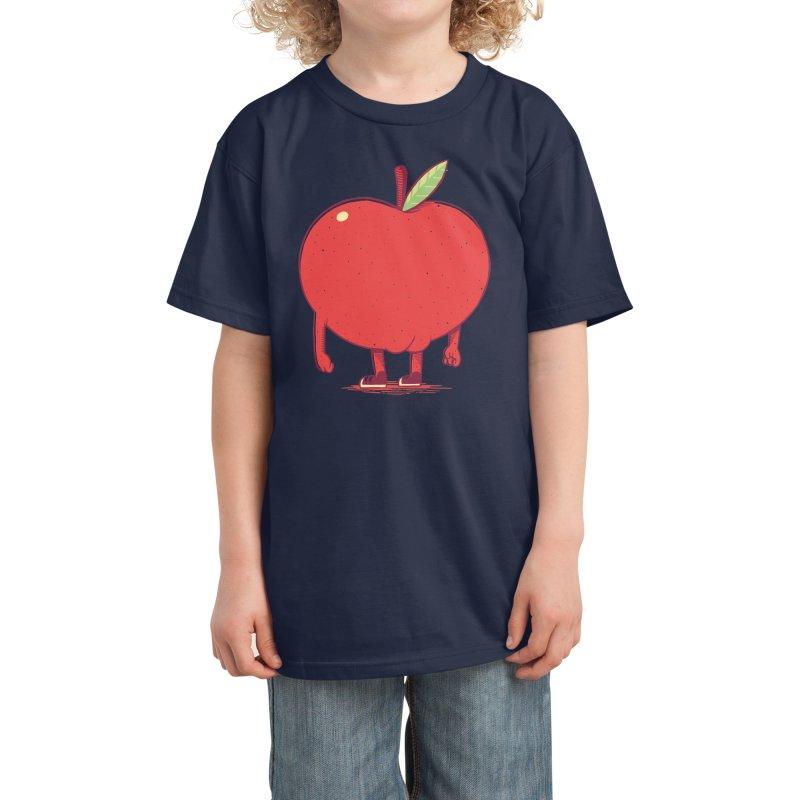 Apple Bottom Kids T-Shirt by Threadless Artist Shop