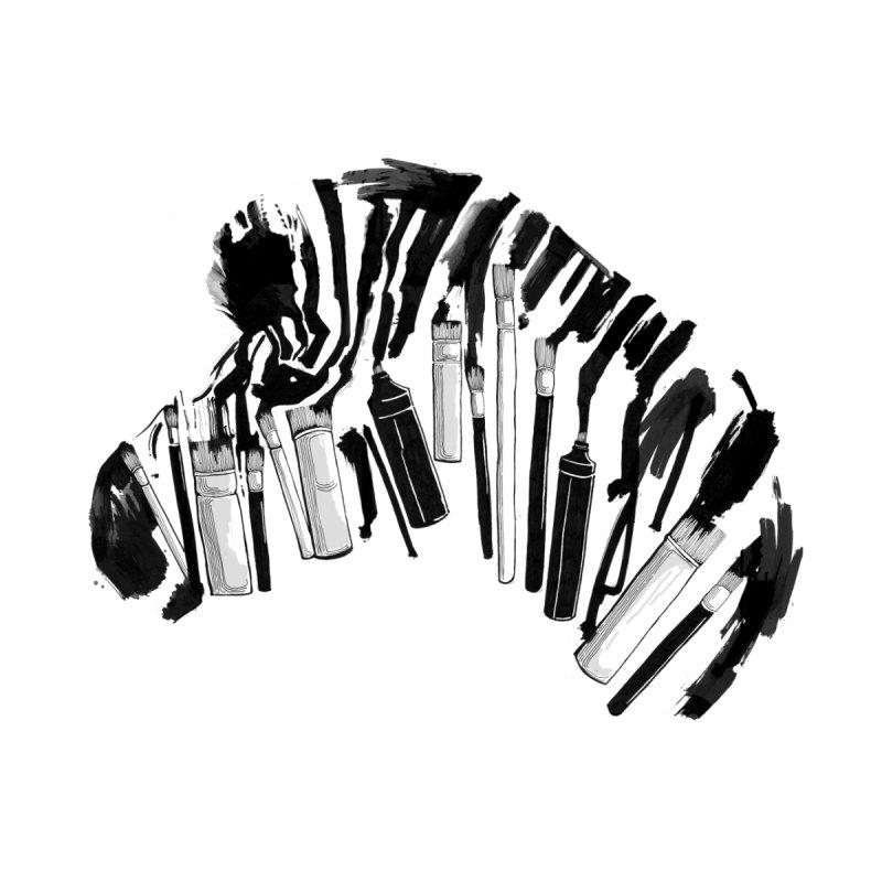 Brushes and Zebra Men's T-Shirt by Threadless Artist Shop