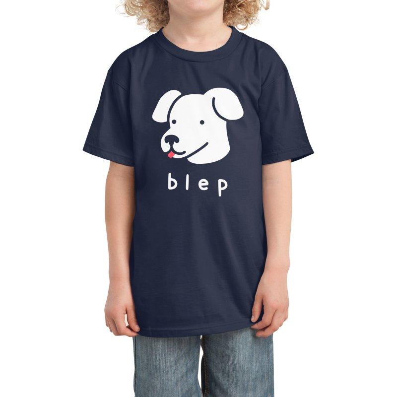 Blep Dog Kids T-Shirt by Threadless Artist Shop