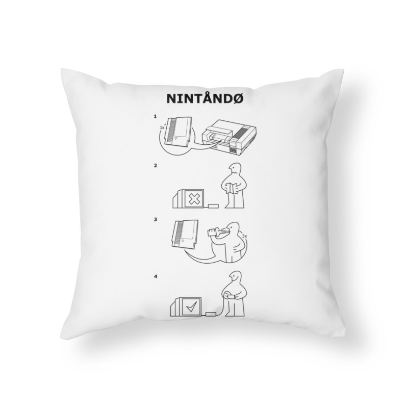 Blow to Play Home Throw Pillow by Threadless Artist Shop