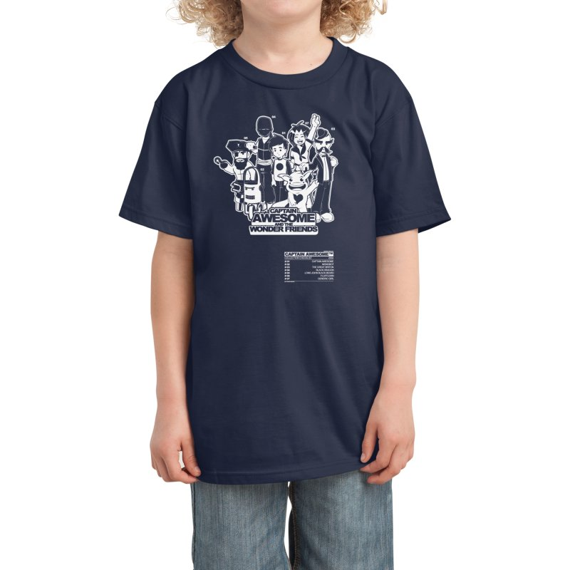 Captain Awesome Kids T-Shirt by Threadless Artist Shop