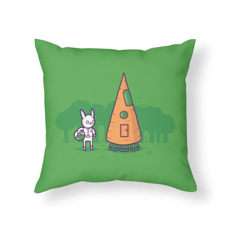 Carrot Rocket Home Throw Pillow by Threadless Artist Shop