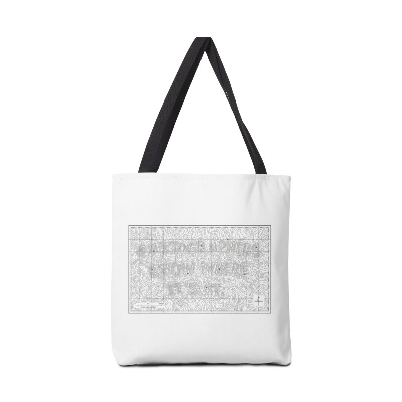Cartographers Know Where It's At Accessories Bag by Threadless Artist Shop