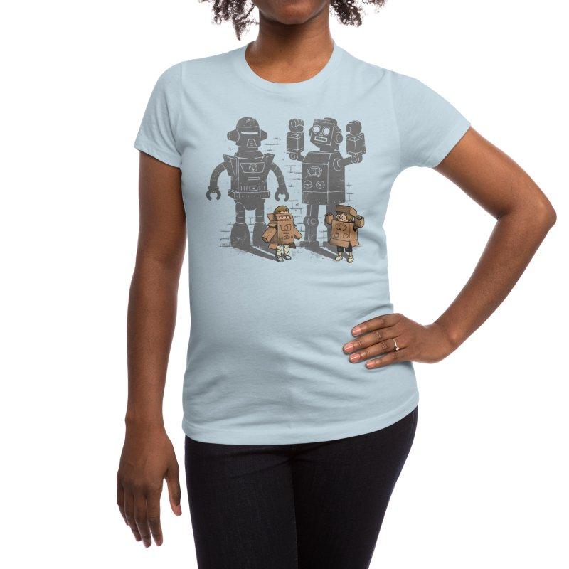 Carton Robots Women's T-Shirt by Threadless Artist Shop