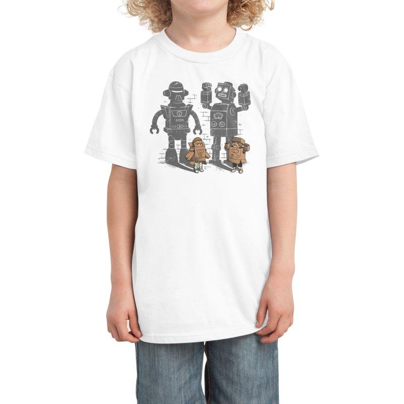 Carton Robots Kids T-Shirt by Threadless Artist Shop