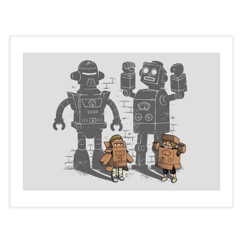 Carton Robots Home Fine Art Print by Threadless Artist Shop