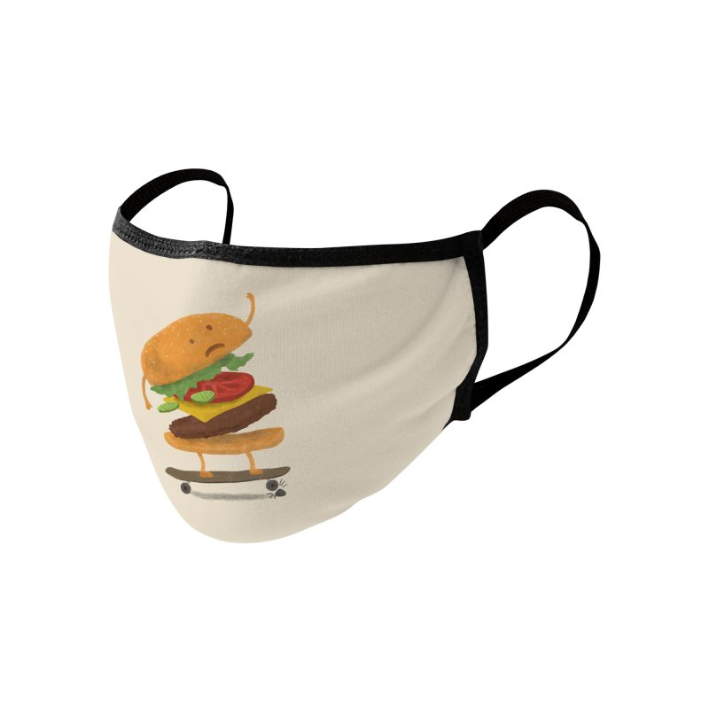 Burger Wipeout Accessories Face Mask by Threadless Artist Shop