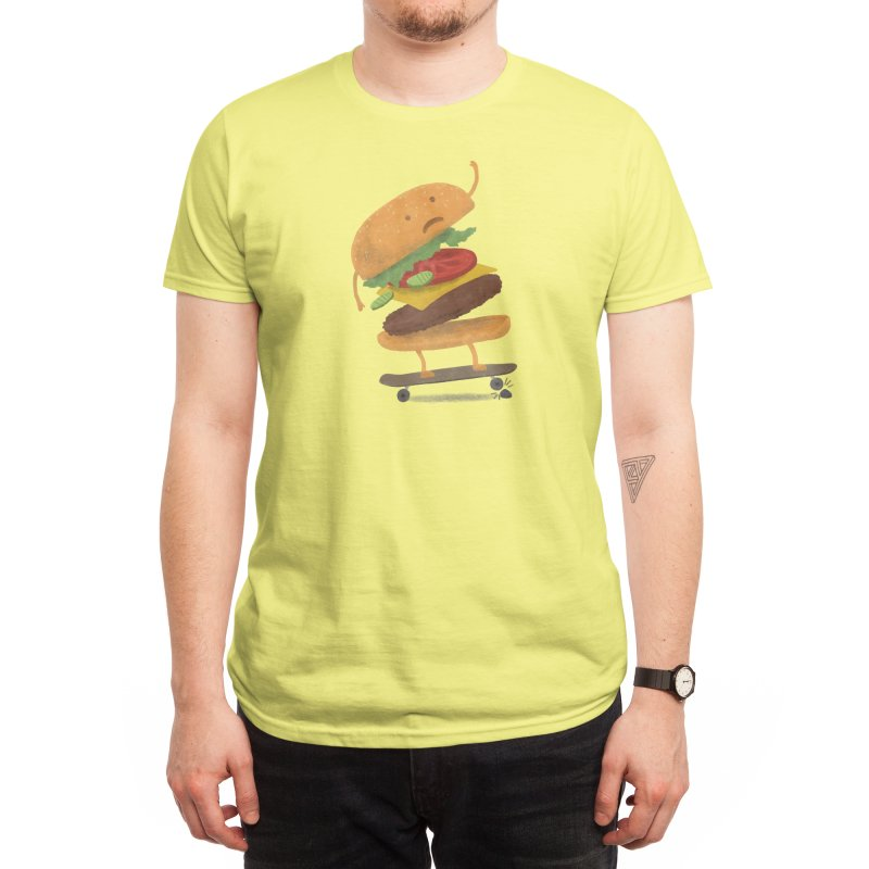 Burger Wipeout Men's T-Shirt by Threadless Artist Shop