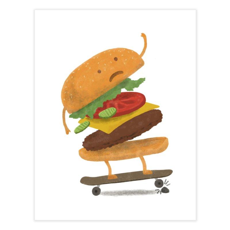 Burger Wipeout Home Fine Art Print by Threadless Artist Shop